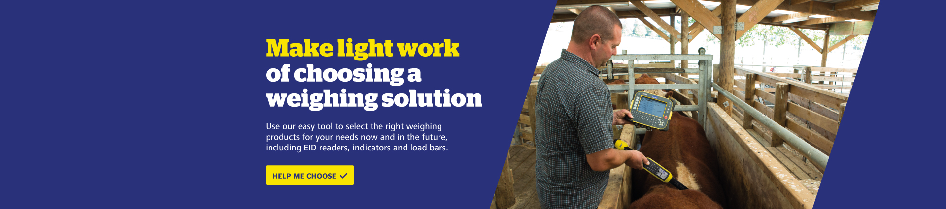 Try our weighing solution tool